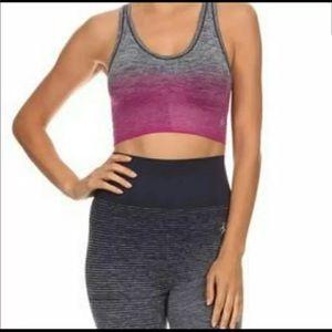 Pants - Pink Ombre Capri Workout Leggings bra set